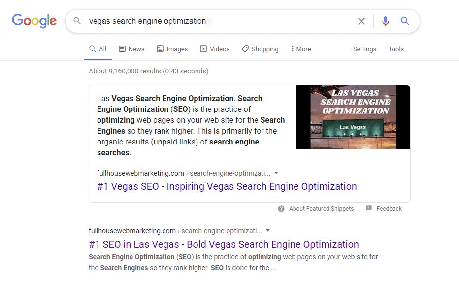 Search Engine Optimization | SEO in Las Vegas 1